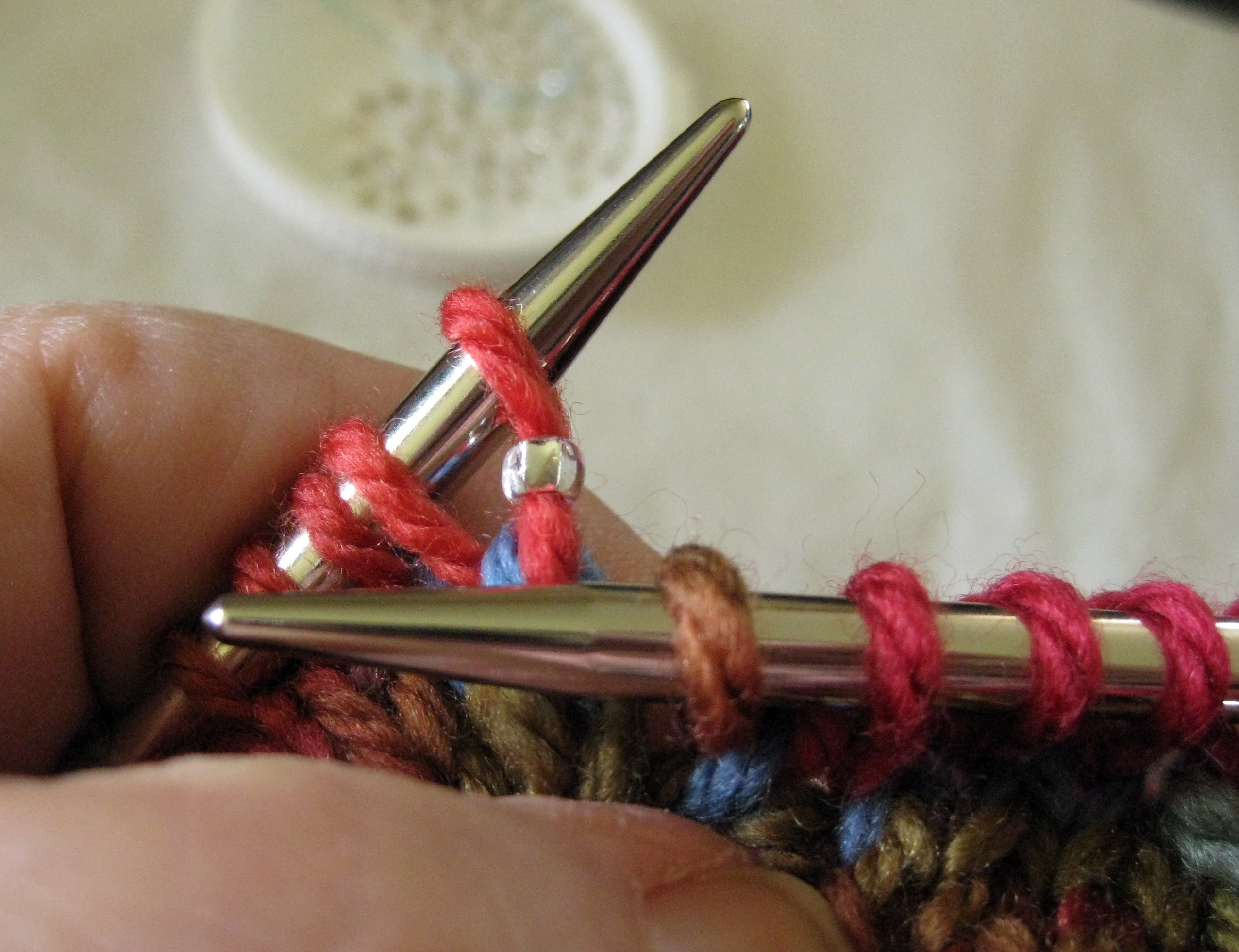Knitting With Beads Dental Floss : Got beads dental floss threaders you can add