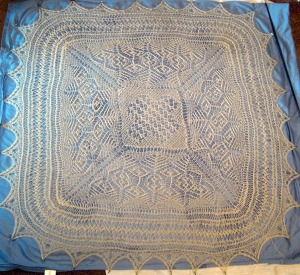 Sheltand Lace Sampler unpainted.