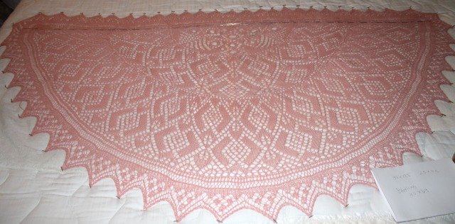 Shawl for Vogue Knitting Spring 2012 - Combines elements of Lace Knitting and Knitted lace.