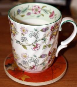 A morning Cuppa in a pretty Minton Mug!