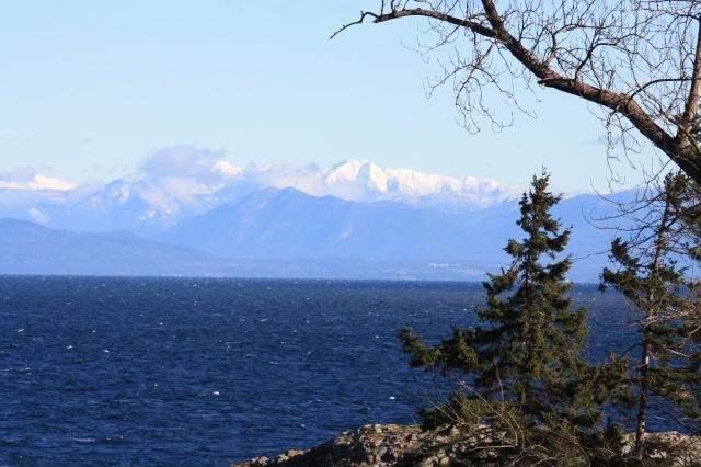The Coastal Ranges across the straight.