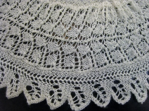 Lace border on the a shawl.  La Belle Epoche - a piece for summer paintng.