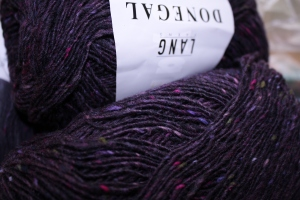 Deep, dark, purple Tweed!