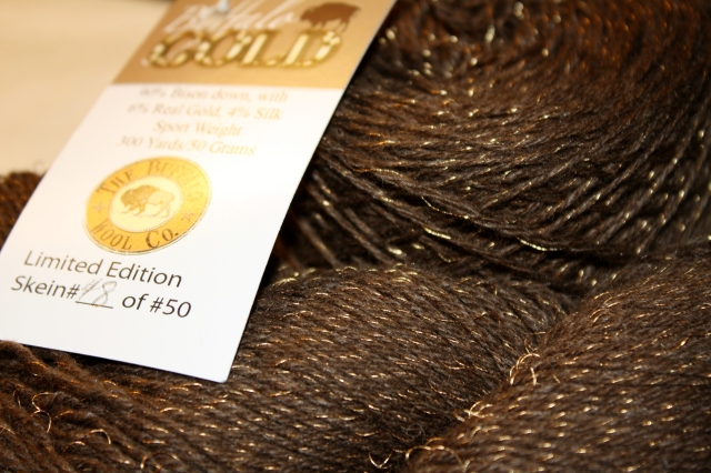 Deep Earth Brown and sparking gold threads!