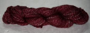 Hand Spun from Beth, yak, merino and silk blend