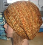 Cloche knit in a single colour of Tosh Merino DK - ginger colourway.