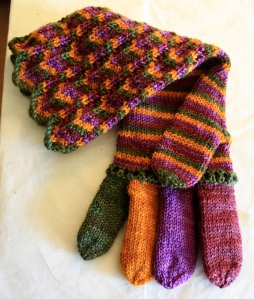 Projects like the Chihuly Chevron Gloves that need to be finished.