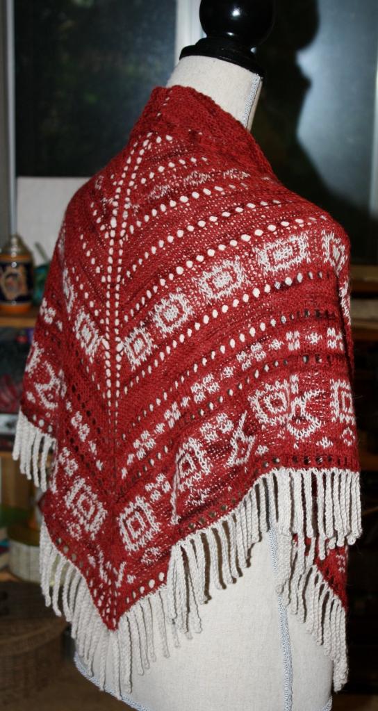 Cowgirl Bandana - 2 hanks of Tracks Sock yarn.