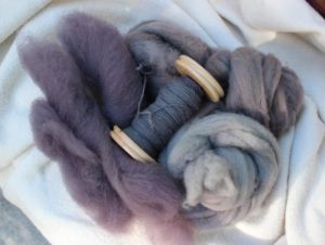 Fibers dyed with Mushroom dyes.  Want to learn more - check out this site - http://shroomworks.wordpress.com/