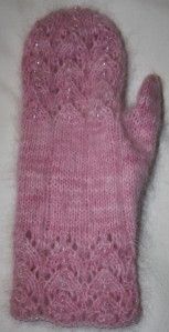 Back view of mitten