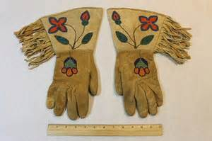 Traditional Leather Beaded Gauntlets
