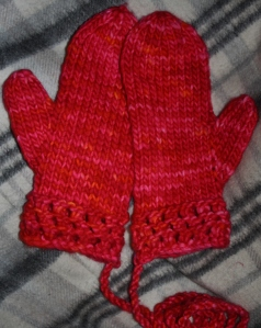 Mitten Love - ladies size medium - pattern available on Ravelry.