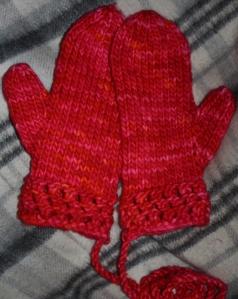 Mitten Love - ladies size medium - pattern available on Ravelry.