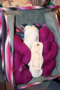 Lot 4 - The colour is my favorite colour the yarn feels beautiful and even matches my new bag from Fiona!