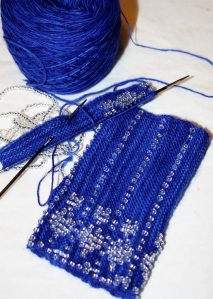 2mm Karbonz dpn's with Malabrigo Lace yarn, smooth as silk with no picking or fuzzing - lovely needles!