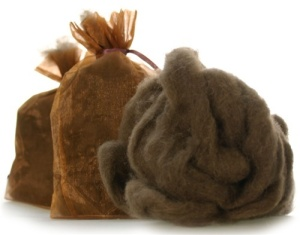 Bison Fibre - natural and ready to spin.