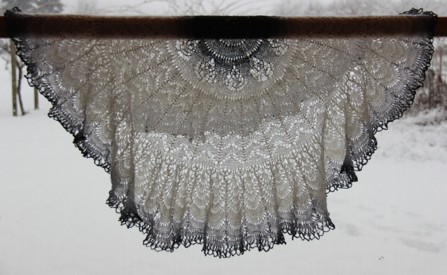 Shetland Lace Circular Shawl - knit by Anne Williams