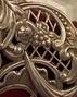 Victorian scrolling silverwork.