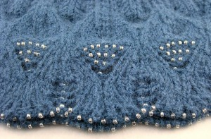 Bead details on the Burka Cap.