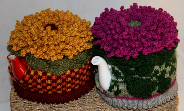 Mums the Word!  Both samples are finished and the gold Chrysanthemum is mine!