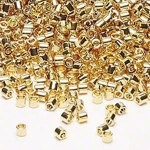 24K dipped 8/0 beads