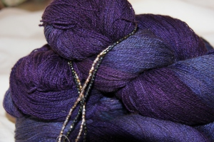 The yarn is so much better in person - the colours are deeper, richer, much more mysterious!