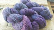 Rhiannon colourway, Royal purple and Denims!