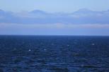 Blue seas and skies.