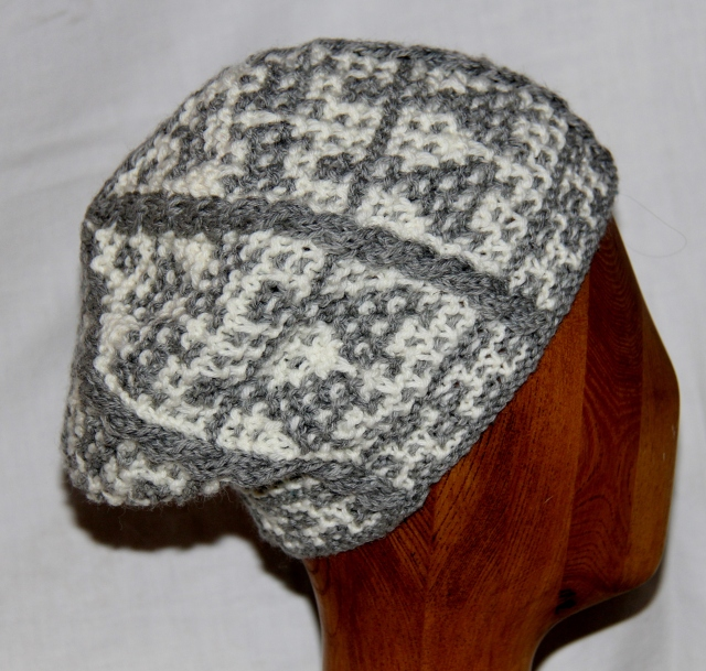 Winter Dancers - a mosaic slouchy hat for the Retreat!