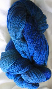 Baby Makin' Blue - I am makin' a shawl!
