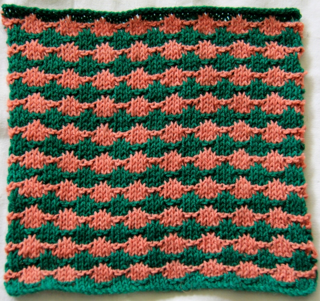 Beaded Stripe Square - no beads this pattern looks like strings of beads!