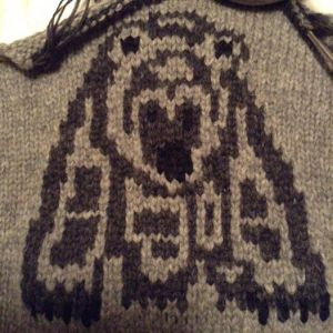 Spirit Bear - first of three designs for the Cowichan Style sweater class.