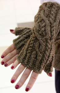 C.C. Snugs Fingerless Mittens.