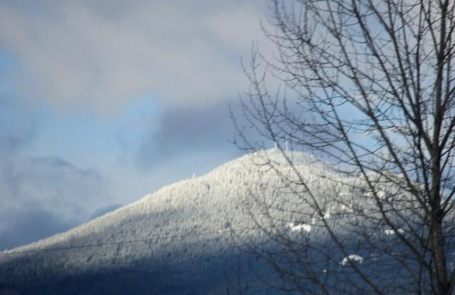 Fresh snow on Mount Benson.