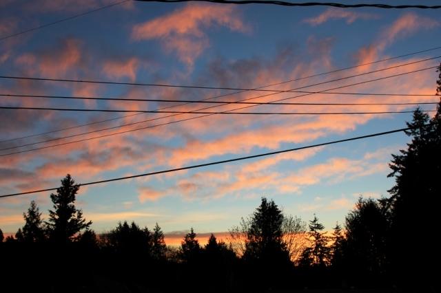 Sunrise earlier this week.